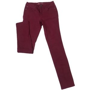Kenneth Cole Burgundy/Maroon Slim fit Jeans 27